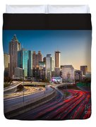 Atlanta Downtown Lights Duvet Cover