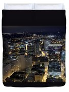 Atlanta Georgia At Night Duvet Cover