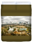 Atlanta Georgia City Skyline Duvet Cover