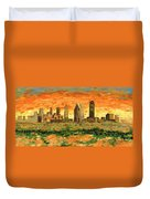 Atlanta Georgia Skyline 10 Duvet Cover