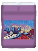 Atlanta Georgia Skyline 17 Duvet Cover