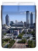 Atlanta Georgia Skyline Duvet Cover