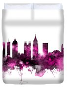 Atlanta Georgia Skyline Pink Duvet Cover