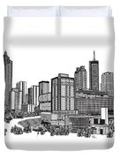 Atlanta Georgia Vector Duvet Cover