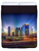 Atlanta Midtown Atlantic Station Starburst Atllanta Georgia Art Duvet Cover