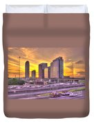 Atlanta Midtown Atlantic Station Sunset Duvet Cover