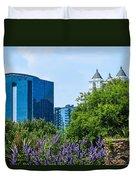 Atlanta Skyline From Atlanta Botanical Garden Duvet Cover
