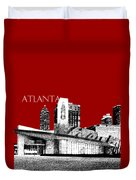 Atlanta World Of Coke Museum - Dark Red Duvet Cover
