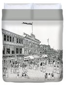 Atlantic City Boardwalk 1900 Duvet Cover