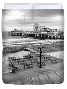 Atlantic City Boardwalk Duvet Cover