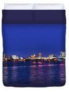 Atlantic City Skyline. Duvet Cover