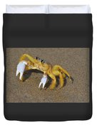 An Atlantic Ghost Crab Playing In The Tide 3 Duvet Cover
