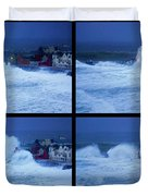 Atlantic Storm Hitting Lahinch Duvet Cover