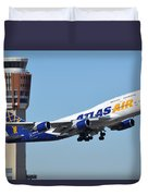 Atlas Air Boeing 747-446 N465mc Phoenix Sky Harbor January 12 2015 Duvet Cover