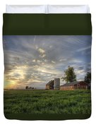 Atmosphere And Alfalfa - Larimer County, Colorado Duvet Cover