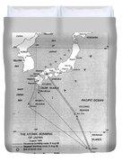 Atomic Bombing Of Japan, 1945 Duvet Cover