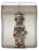 Atomic Tin Robot Duvet Cover