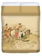 Attack On The Muleteers Duvet Cover