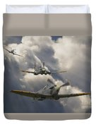 Attack Out Of The Sun Duvet Cover