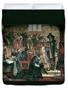 Attempted Arrest Of 5 Members Of The House Of Commons By Charles I Duvet Cover