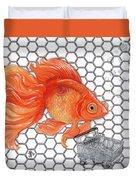 Attention Goldfish Shoppers Duvet Cover