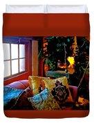 Barn Attic Rummage Sale Duvet Cover