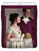 Attractive Regency Couple Duvet Cover