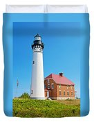 Au Sable Lighthouse In Pictured Rocks National Lakeshore-michigan  Duvet Cover