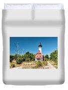Au Sable Point Lighthouse Duvet Cover