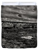 Auburn Lewiston Railway Bridge Duvet Cover