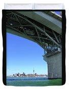 Auckland Harbour And Bridge Duvet Cover