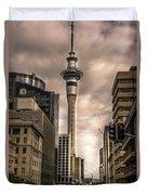 Auckland Sky Tower Duvet Cover