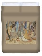 Audience For The Ceremonial Dancers Duvet Cover