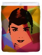 Audrey Hepburn Pop Art 1 Duvet Cover
