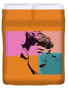 Audrey Hepburn Pop Art 2 Duvet Cover
