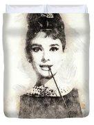 Audrey Hepburn Portrait 01 Duvet Cover