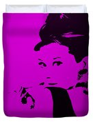 Audrey Purple Duvet Cover