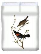 Audubon: Blackbird Duvet Cover
