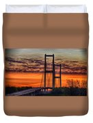 Audubon Bridge Sunrise Duvet Cover
