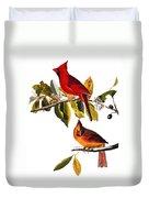 Audubon: Cardinal Duvet Cover
