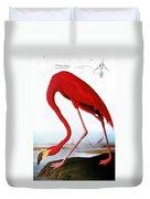 Audubon: Flamingo, 1827 Duvet Cover