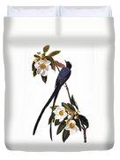 Audubon Flycatcher, 1827 Duvet Cover by John James Audubon