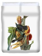 Audubon: Grackle Duvet Cover