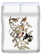 Audubon: Grosbeak Duvet Cover