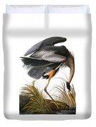 Audubon Heron Duvet Cover