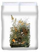 Audubon: Meadowlark Duvet Cover