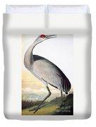 Audubon Sandhill Crane Duvet Cover