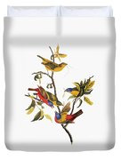 Audubon: Sparrows Duvet Cover
