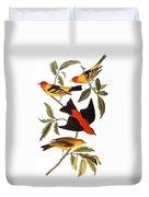 Audubon: Tanager, 1827 Duvet Cover