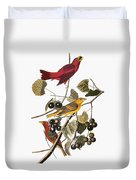 Audubon: Tanager Duvet Cover